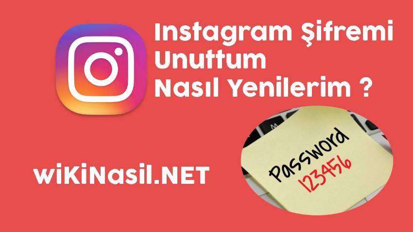Instagram Şifremi Unuttum Nasıl Yenileyebilirim ?