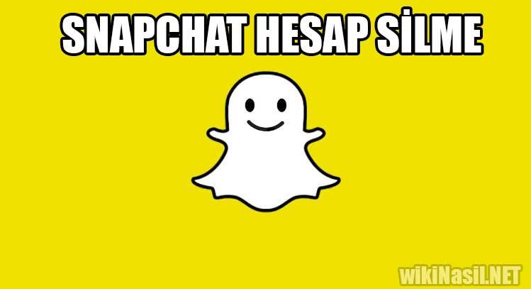 Snapchat Hesap Silme Nasıl Yapılır?