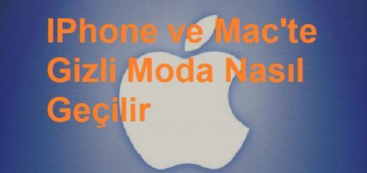 Mac'te İPhone'da Gizli Moda Nasıl Geçilir